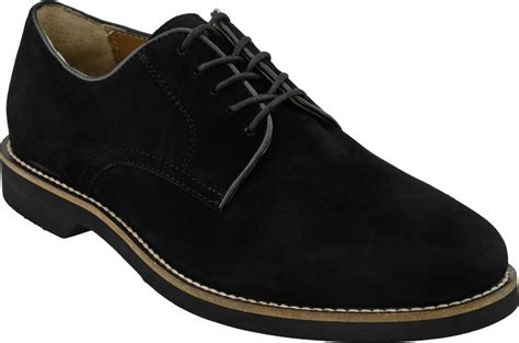 mens black oxford dress shoes bass s buckingham casual suede lace up oxford dress