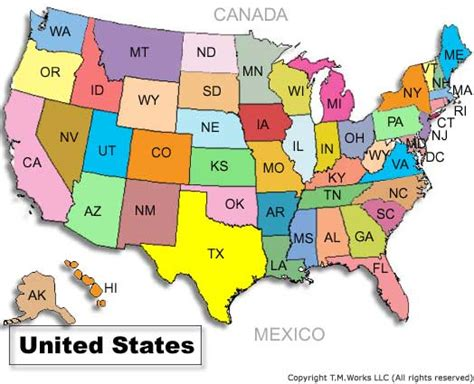 map usa states view top 10 states population image search results