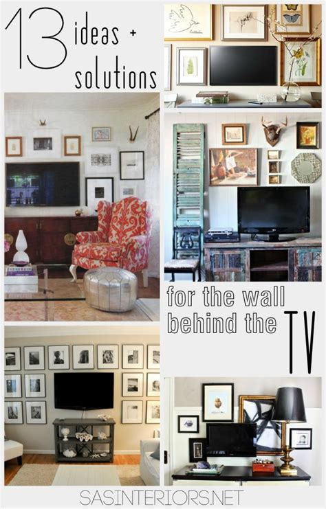 home decor solutions ideas solutions for the wall behind the tv jenna burger