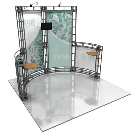10 x 10 box black juncher design cetus 10x10 orbital display booth best possible price