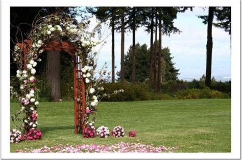 diy outdoor wedding arches ideas benedikte s wedding ceremony site decor and flowers for a garden wedding ceremony held