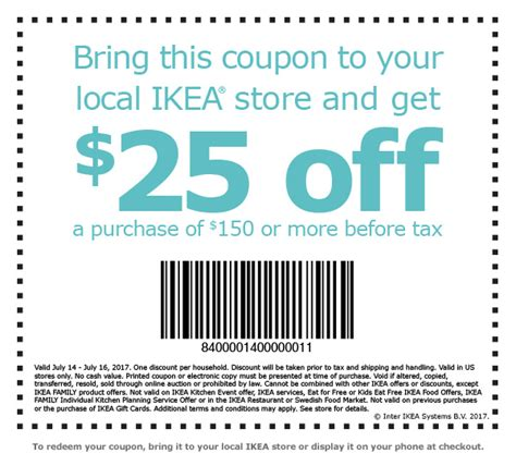 Ikea Gift Card Discount - 25 off 150 at ikea deals atx