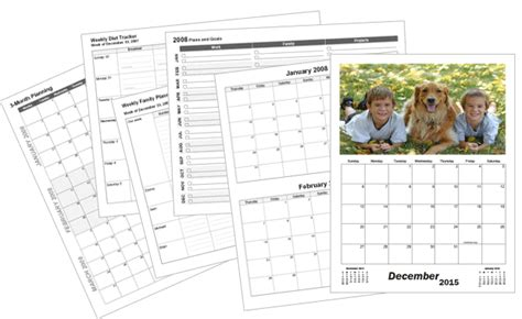 Large Custom Calendar Template Print Blank Calendars Custom Photo Calendar Template
