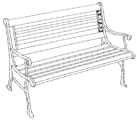 how to draw a park bench patent usd458628 park bench entertainment device