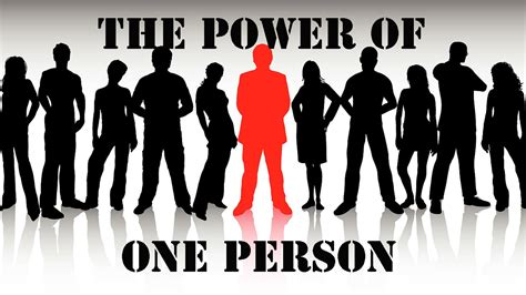 The Power Of One weekly sermon the power of one person audio w scripture