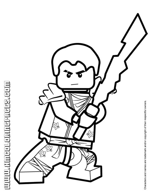 ninjago jay kx with elemental blade coloring page h m