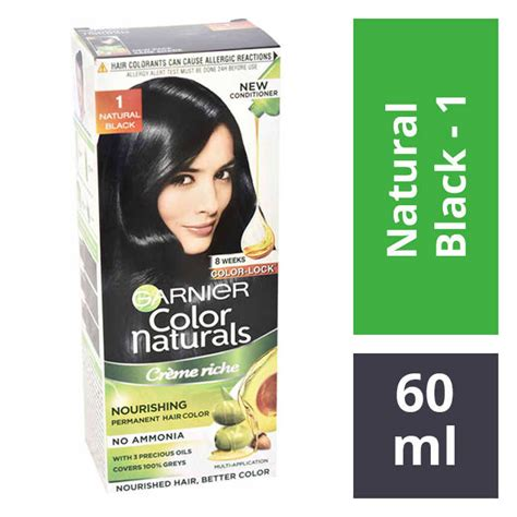 Garnier Color Naturals 60ml garnier color naturals 1 black hair colour 60ml 50gm