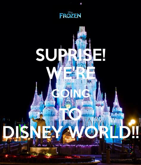 Disney Going To The Mat - suprise we re going to disney world poster matt