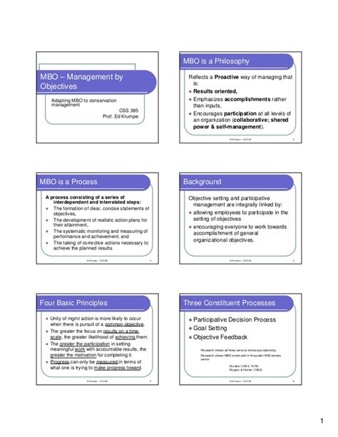 manage by objective template mbo goal achievement framework