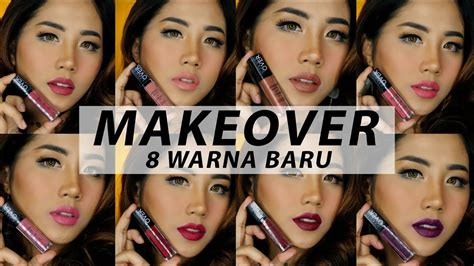 Lipstik Wardah 8 Warna make matte lip 8 warna baru 013 020 swatches dan review