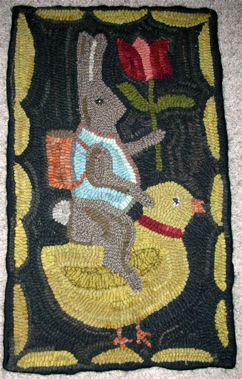 easter rugs easter rug hooked by patty hoffmeyer stitched hooked needlepunch and more