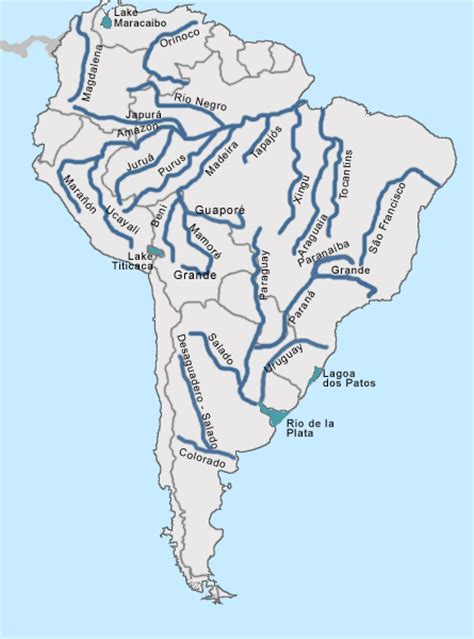worlds rivers map quiz labeled map of rivers in south america learn something