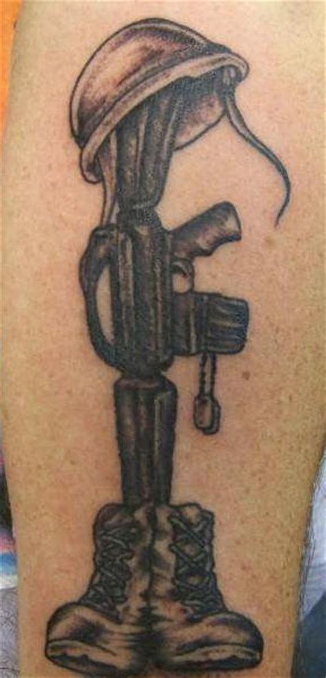 m16 tattoo m16 with helmet and shoes army memorial