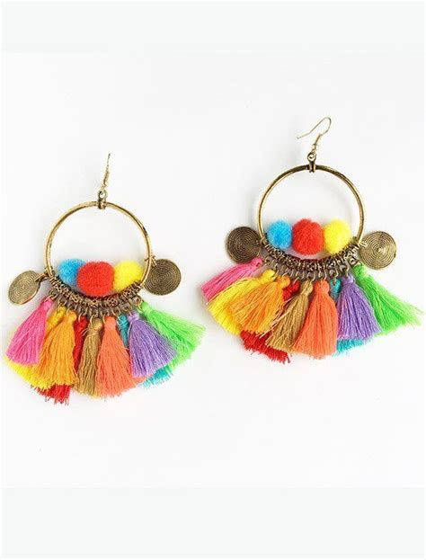 Pom Pom Earring by Pom Pom Tassel Earrings Tassel Earrings And Tassels