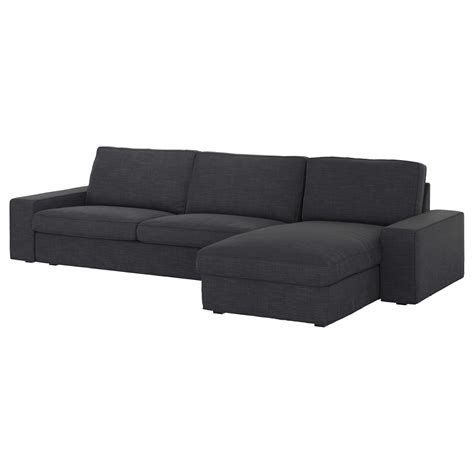ikea chaise couch kivik three seat sofa and chaise longue hillared