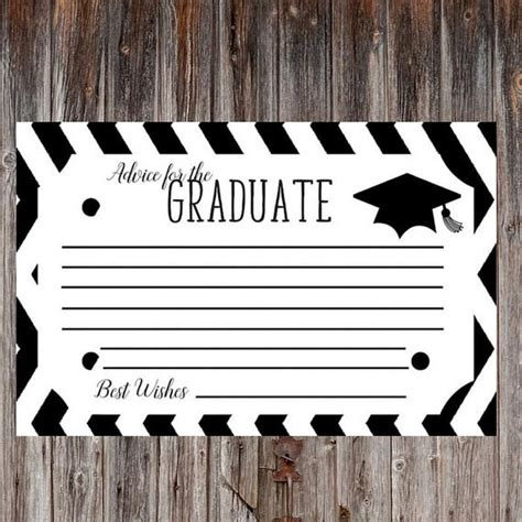 Word Graduation Advice Card Template by Graduation Advice Card Advice Cards Graduation Greeting