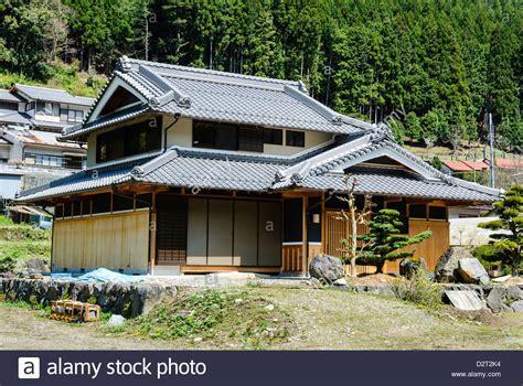 wooden japanese house   village deep   rural