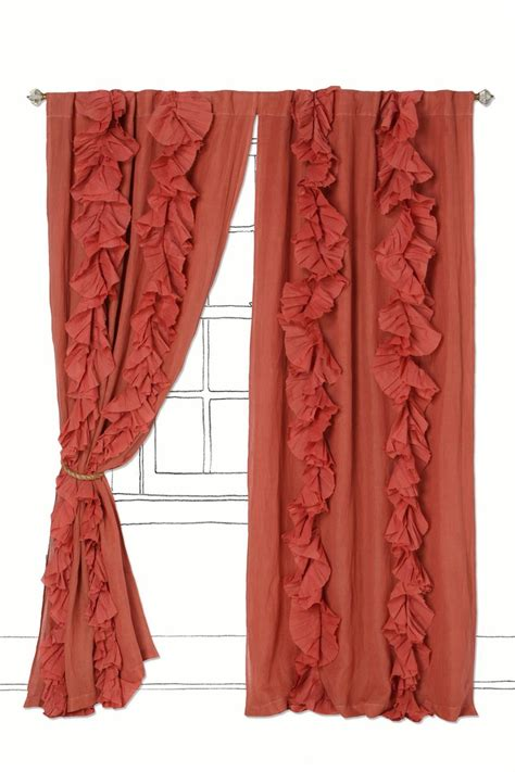 coral curtains target coral ruffle curtains at best office chairs home