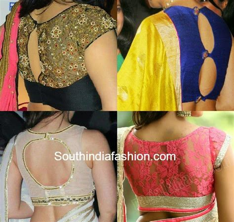 Fashion Blouse back neck blouses fashion trends south india fashion