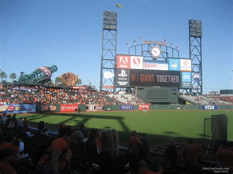 san francisco sections at t park section 127 san francisco giants