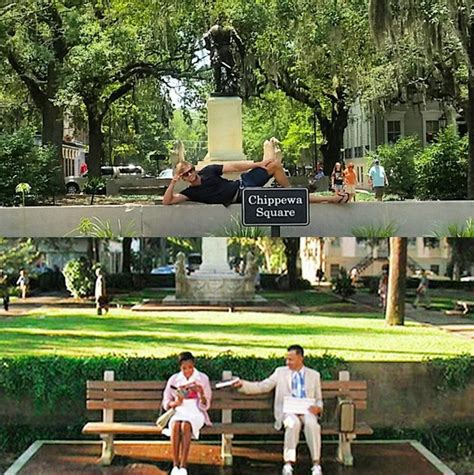 forrest gump bench in savannah recreate quot forrest gump quot in chippewa square savannah