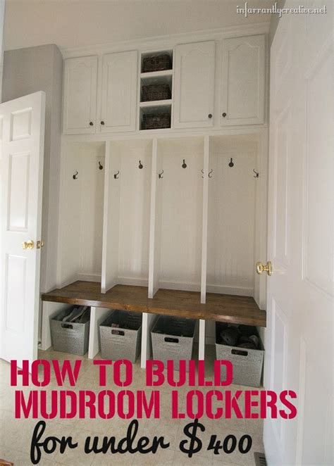 mudroom locker plans diy mudroom locker final reveal