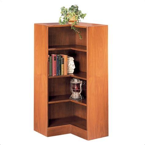 Hale 48in Corner Wood Bookcase Corner Bookcase Wood