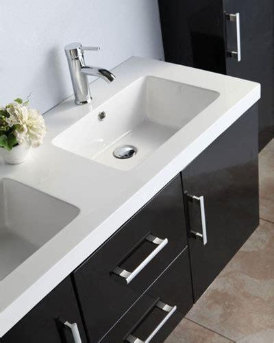 mobile bagno 120 mobile bagno taiti 120 cm bianco o nero doppio lavabo in