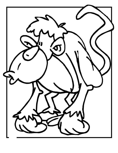 cute monkey coloring pages coloring part 3 smurfs pictures and names coloring home