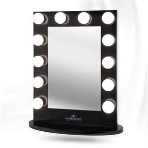 black lighted makeup mirror impressions vanity hollywood iconic xl vanity mirror