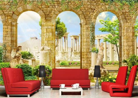 Pajangan Dinding Poster House 01 Pigura Home Decor 3d custom photo mural 3d wallpaper ancient architecture decor painting 3d wall