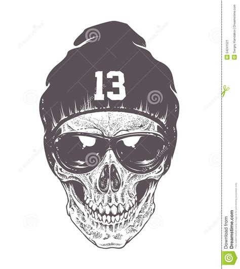 dotwork skull art stock vector image 54241521