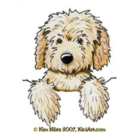 how to draw a goldendoodle labradoodle aceo original chocolate goldendoodle