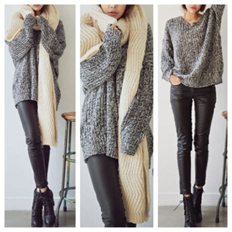 oversized knit pullover grey sweater oversized knit pullover top from doublelw on