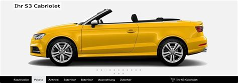 Audi S3 Konfigurator by Audi S3 Cabriolet