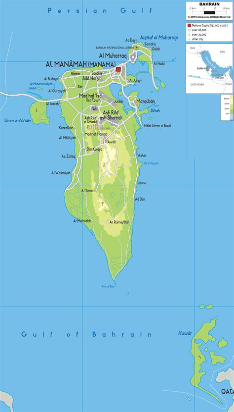 printable road map of bahrain mapofmap1 sayfa 20
