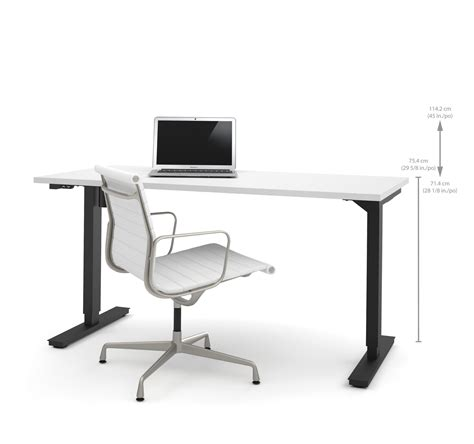 height adjustable office desk electric 60 quot sit stand electric height adjustable office desk in