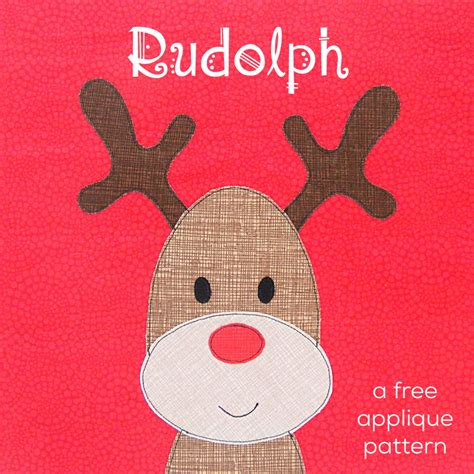 patterns for applique rudolph the nosed reindeer a free applique pattern