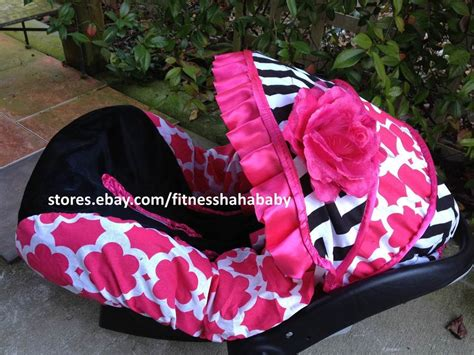 Carseatcanopy Com Gift Card - babygirl chevron blac pink infant car seat canopy cover fit most infant car seat ebay