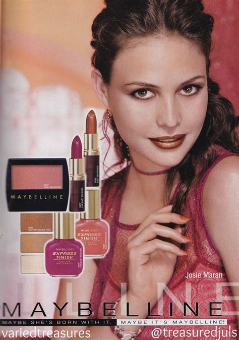 Make Up Maybelline 90s maybelline ad with josiemaran makeup