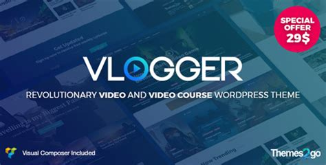 Vlogger Professional Tutorials Theme V1 3 1 free nulled php scripts themes plugins