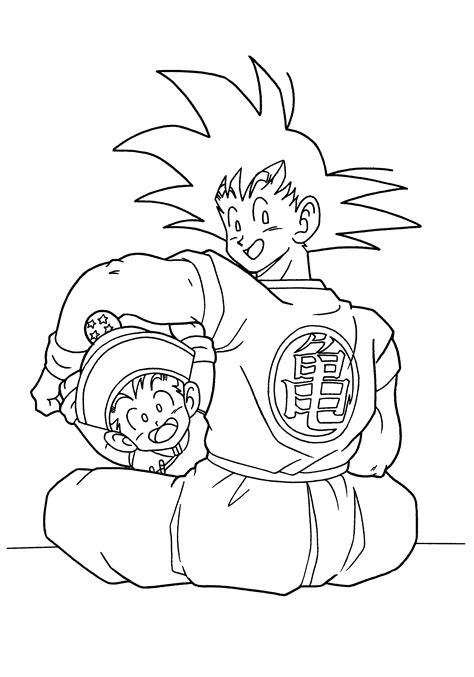 dragon ball z goku and gohan dragon ball z coloring