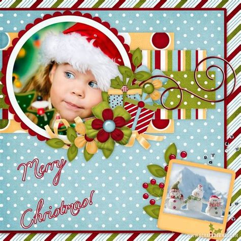 new christmas templates archives scrapbook max