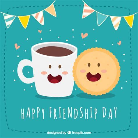 imagenes gratis feliz dia de la amistad fondo de feliz d 237 a de la amistad con galleta y caf 233