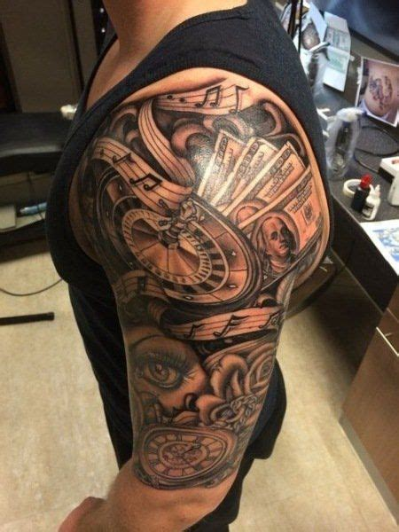 24 best money half sleeve tattoos for men images on