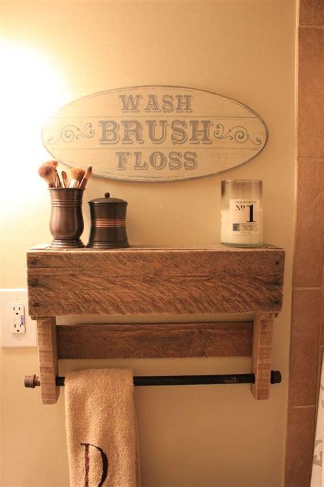 diy bathroom rack 25 best ideas about pallet towel rack on pinterest
