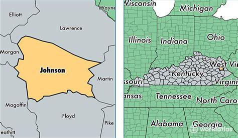 kentucky map johnson county johnson county kentucky map of johnson county ky