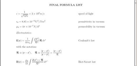 tutorial latex formula align horizontal alignment of equation and text tex