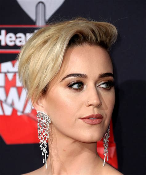 Katy Perry Short Straight Alternative Asymmetrical