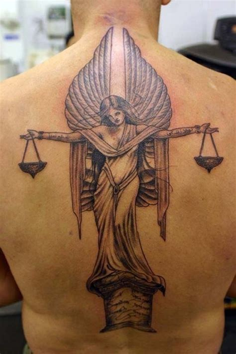 scales of justice tattoo 35 libra zodiac sign designs